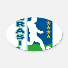 Brazil.png Oval Car Magnet