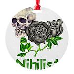 nihilist01.png Round Ornament