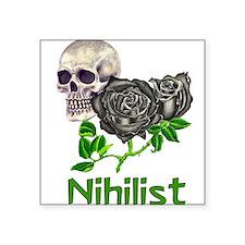 """nihilist01.png Square Sticker 3"""" x 3"""""""