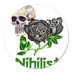 nihilist01.png Round Car Magnet