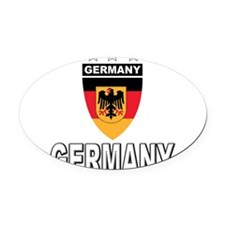 germany soccer.png Oval Car Magnet