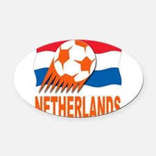 NETHERLANDS E.png Oval Car Magnet