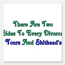 "divorce01a.png Square Car Magnet 3"" x 3"""