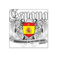 "2010 spain champions.png Square Sticker 3"" x 3"""