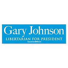 Gary Johnson for President Bumper Bumper Sticker