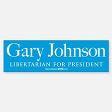 Gary Johnson for President Bumper Bumper Sticker