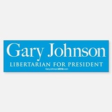 Gary Johnson for President Car Car Sticker