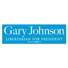 Gary Johnson for President Car Sticker