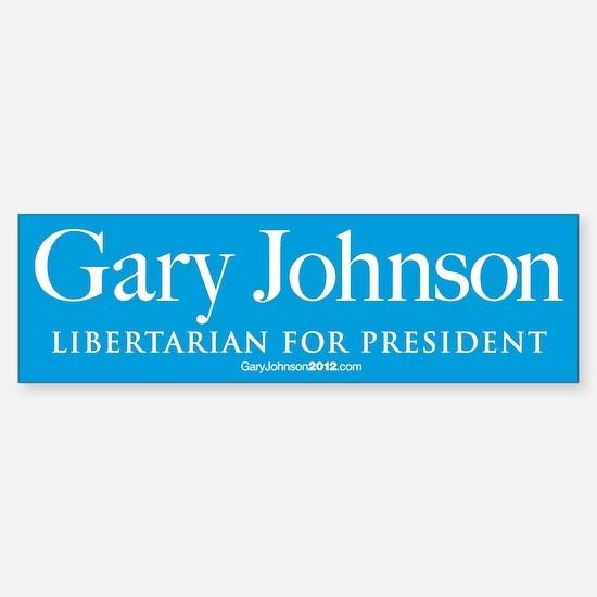 Gary Johnson for President Sticker (Bumper)