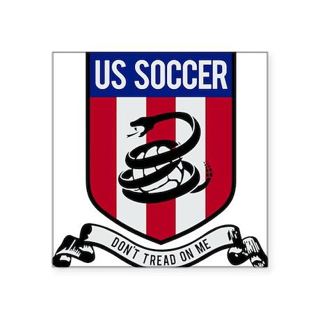 "USA(blk).png Square Sticker 3"" x 3"""
