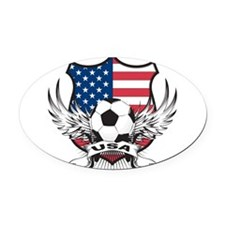 USA(blk).png Oval Car Magnet