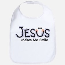 Jesus Makes Me Smile: Bib