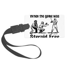 Steroid free.png Luggage Tag