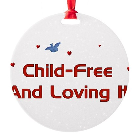 childfree01a.png Round Ornament
