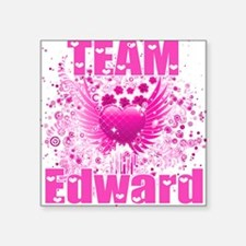 "edward cullen(blk).png Square Sticker 3"" x 3"""
