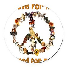 peacedogs01a.png Round Car Magnet