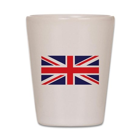 Union Jack United Kingdom Flag Shot Glass