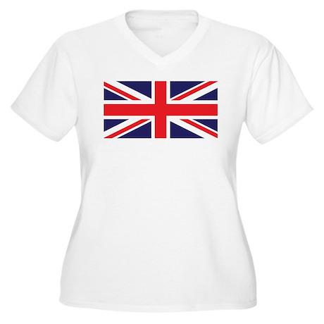 Union Jack United Kingdom Flag Women's Plus Size V