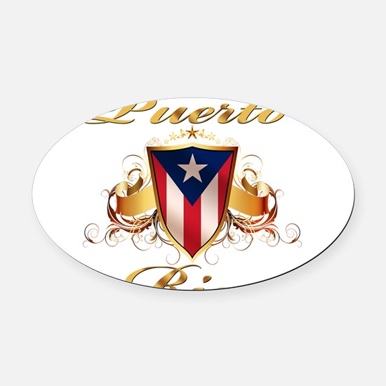 puerto rico.png Oval Car Magnet