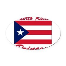 PR shield.png Oval Car Magnet