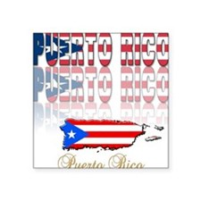 "puerto rico(blk).png Square Sticker 3"" x 3"""