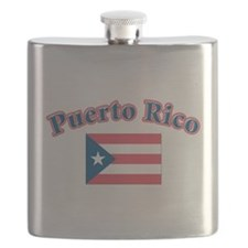 Puerto rico flag(blk).png Flask