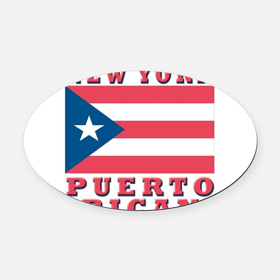 new york Puerto rican.png Oval Car Magnet