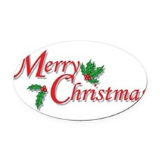 7-6-5-4-3-Merry Christmas T-Shirt.png Oval Car Mag