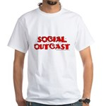 Social Outcast White T-Shirt