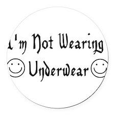 underwear01.png Round Car Magnet