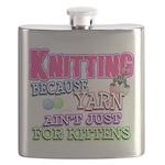 Knitting Kitten Flask
