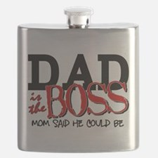 Dad is the Boss Flask