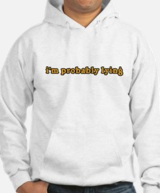 i'm probably lying dr will Hoodie