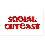 Social Outcast Rectangle Sticker