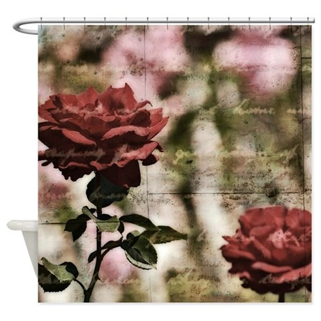 Inspired Red Roses Shower Curtain by be_inspired_by_life