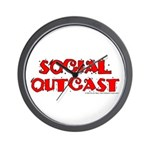 Social Outcast Wall Clock