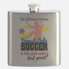 Girls Make Soccer Look Good Flask