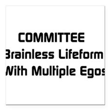 """a1_committee01.png Square Car Magnet 3"""" x 3"""""""