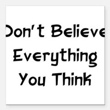 """1_believe01.png Square Car Magnet 3"""" x 3"""""""
