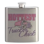 Hottest Trucker Chick Flask