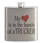 My Heart in the Hands Trucker Flask