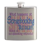 Scrapbooking Retreats Shhh! Flask