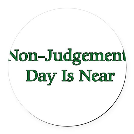 nonjudgement01a.png Round Car Magnet