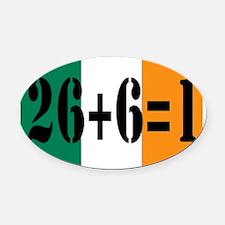 Irish pride Oval Car Magnet