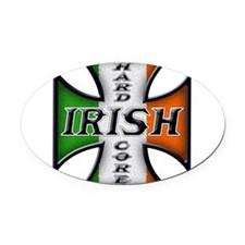 irish to the bone(blk).png Oval Car Magnet