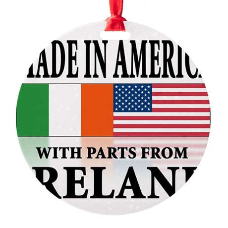 Irish American pride Round Ornament