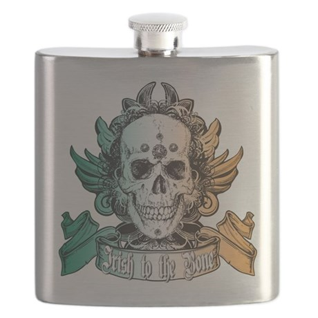 irish to the bone(blk).png Flask