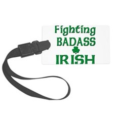 Fighting Badass irish(blk).png Luggage Tag