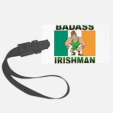 badass irishman(blk).png Luggage Tag