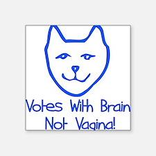 "vagina_vote01.png Square Sticker 3"" x 3"""